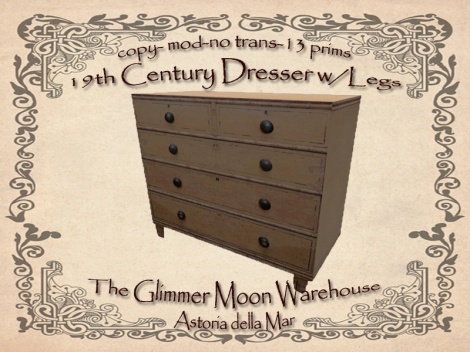 19th Century Dresser wLegs