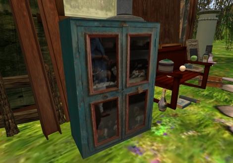 Blue Curio Cabinet - Just 1 Prim!  (copy/mod)