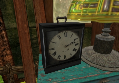 Little Black Clock - 3 Prim (copy/mod)