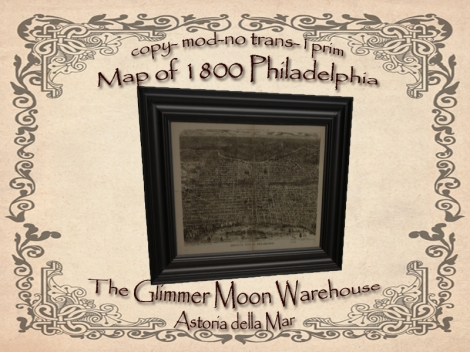 Map of 1800 Philadelphia Advert