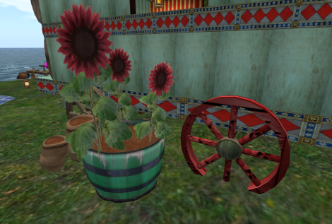 Barrel of Red Sunflowers
