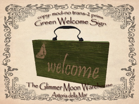Green Welcome Sign Ad