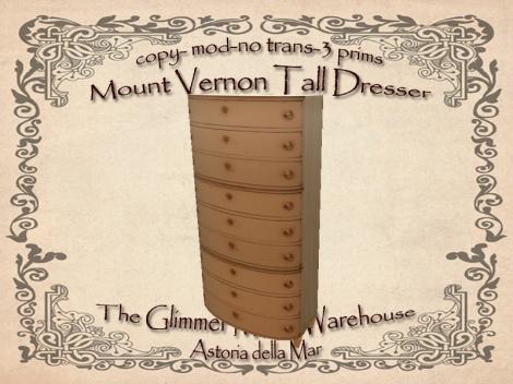 Mt Vernon Tall Dresser Ad