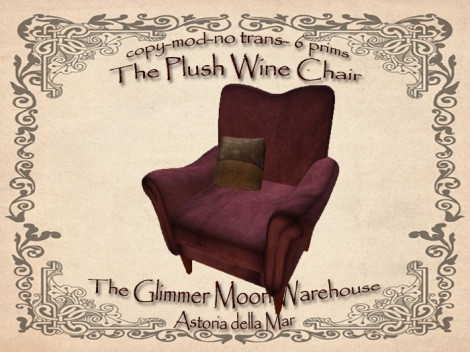 Plush Wine Comfy Chair